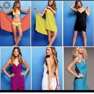 Victoria secret wrap cover up open back dress Larg
